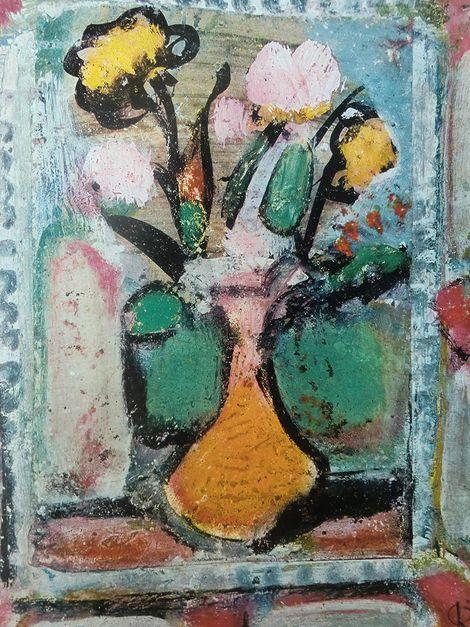 Georges Rouault, Blumen in Vase on ArtStack #georges-rouault #art