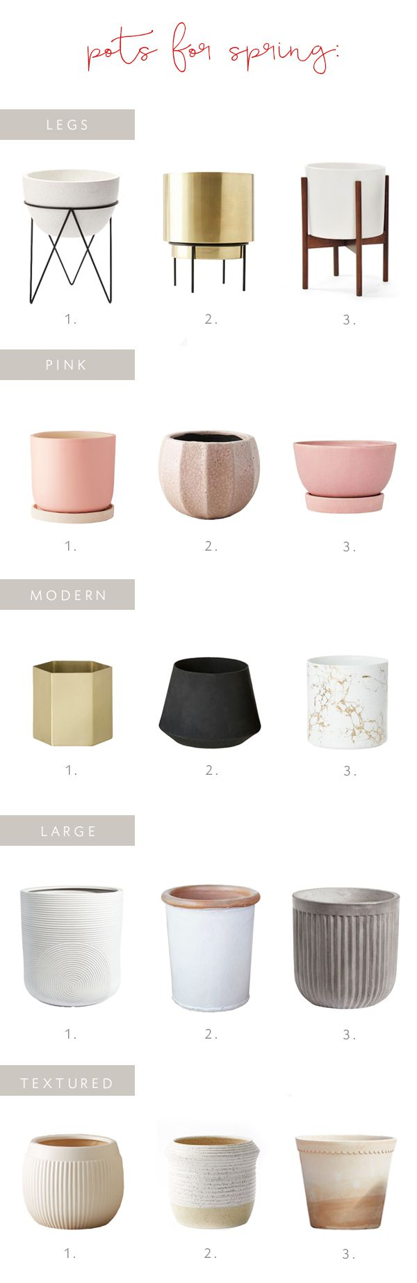a roundup of pots for your spring houseplants! | coco kelley