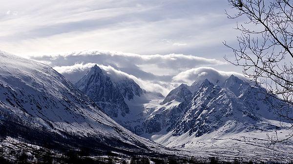 #Norway #mountains #view  Wondrous Winter Scenery
