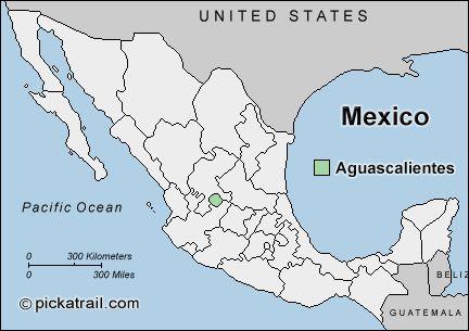 Map of Aguascalientes