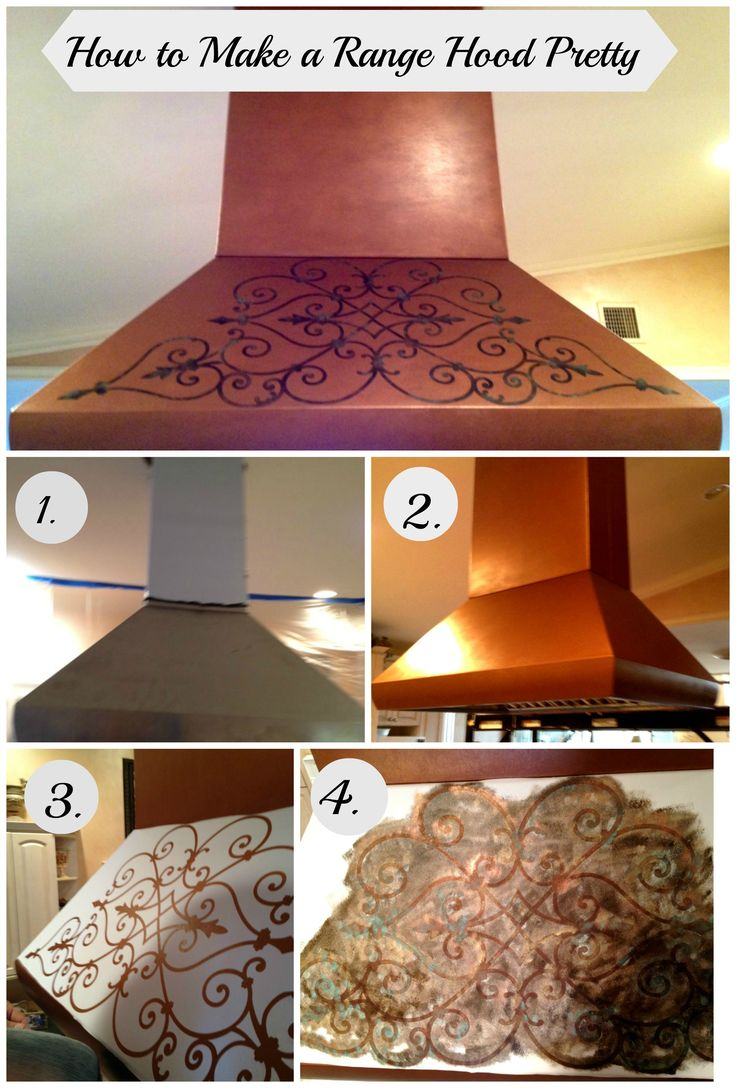 If you have a #rangehood in your kitchen, and you are not happy with how it looks - change it!  Here is a #How to on making an ugly #commercial range hood pretty