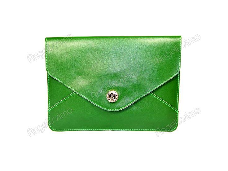 Клатч - конверт цвета зеленой травы