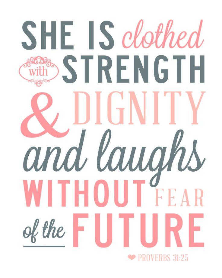 Proverbs 31 Verse | Proverbs 31:25 Scripture, Quote, Verse Art Print 8x10