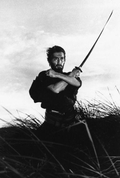 ♂ Black  white image man sword Japanese martial art. #Samurai # Sword