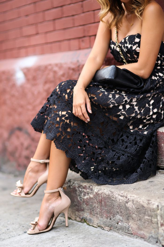 Blogger style sheer midi dress