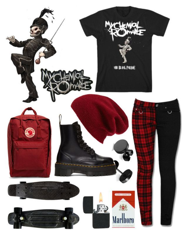 """❣️❣️"" by emo-narwhalz ❤ liked on Polyvore featuring Halogen, Fjällräven, Yellow Jacket and Dr. Martens"