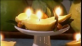 Martha Stewart uses lemon halves to make unique and fragrant candles out of the rind.