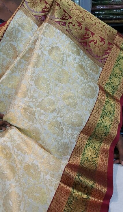 Wedding collection Kancipuram pure silk sarees from Kumaran Silk Madurai contact... 7