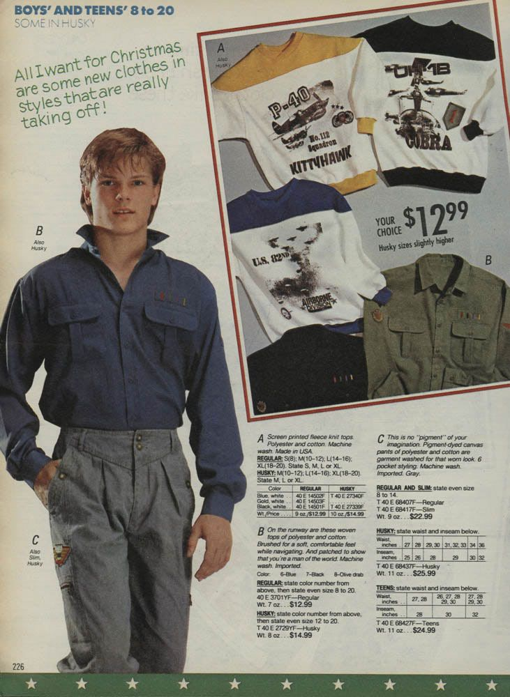 boys fashion from a 1988 catalog 1980s vintage