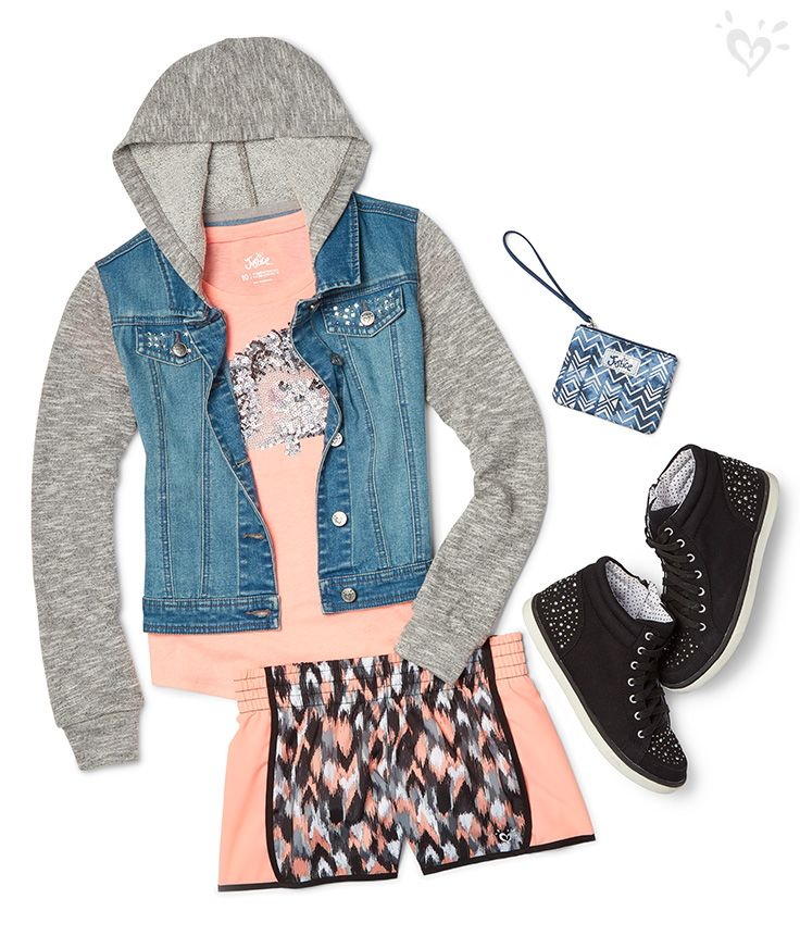 Mix activewear pieces into her every day look. Play with prints and embellishments for extra fun.
