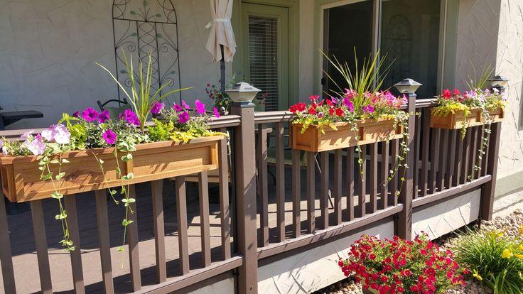Balcony flower pot deck railing planters balcony