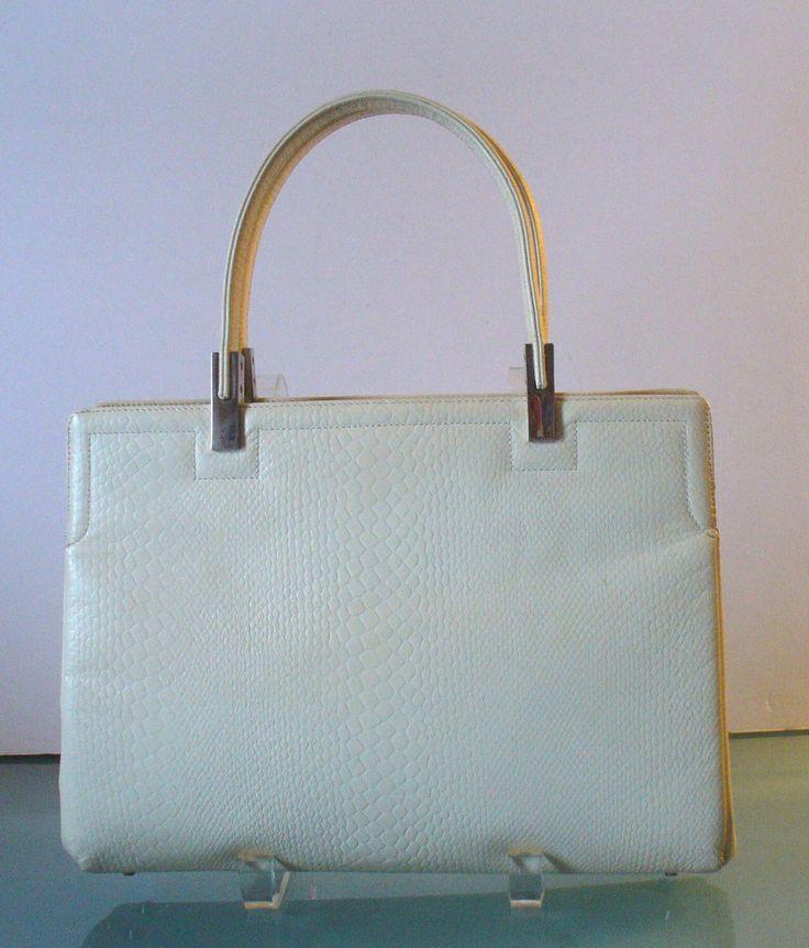 Vintage Koret Cream Leather Handbag by TheOldBagOnline on Etsy https://www.etsy.com/listing/176669256/vintage-koret-cream-leather-handbag