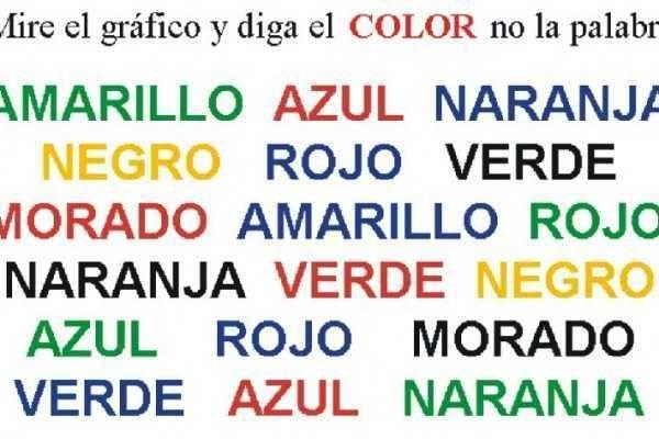Decir el Color, y NO la palabra