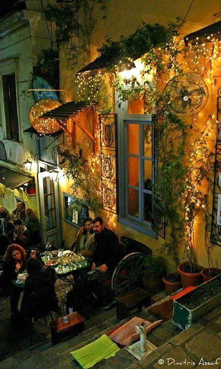 Plaka at Night in Athens, Greece (by Dimitris Asf), repinned by http://www.greece-travel-secrets.com/