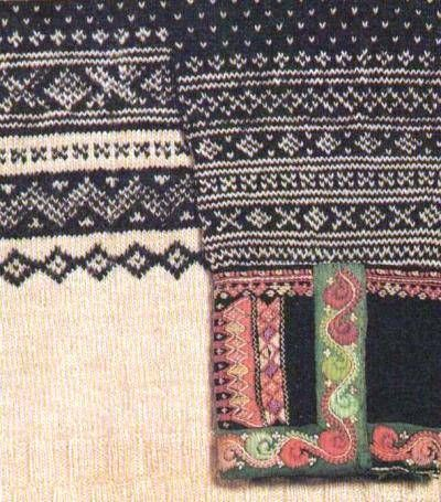 Detail from a 100 years old (plus) Norwegian sweater from Valle Setesdal Norwegian Folk Museum.