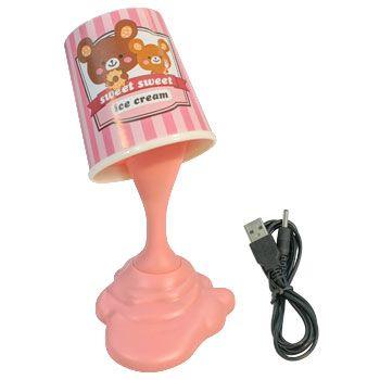 Pink Ice Cream Desk Lamp