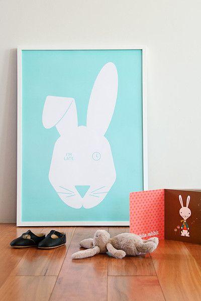 Mr Rabbit is our interpretation of Alice in Wonderland's white rabbit who is always running late.