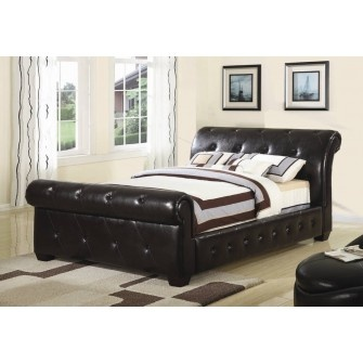 Manchester Sleigh Bed Brown