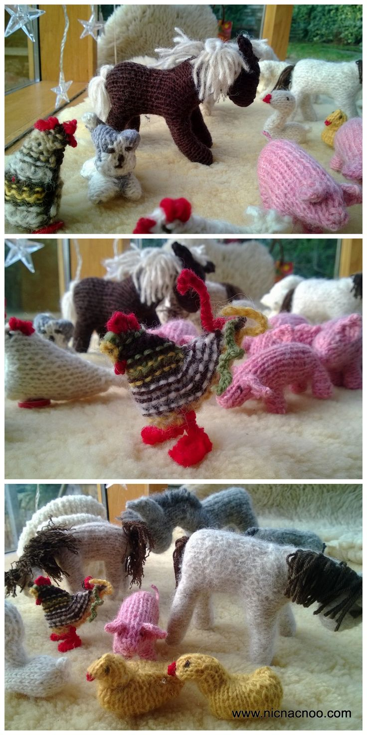 11 best knitting images on pinterest free crochet knit patterns knitted farm animals free pattern ask in comments bankloansurffo Gallery