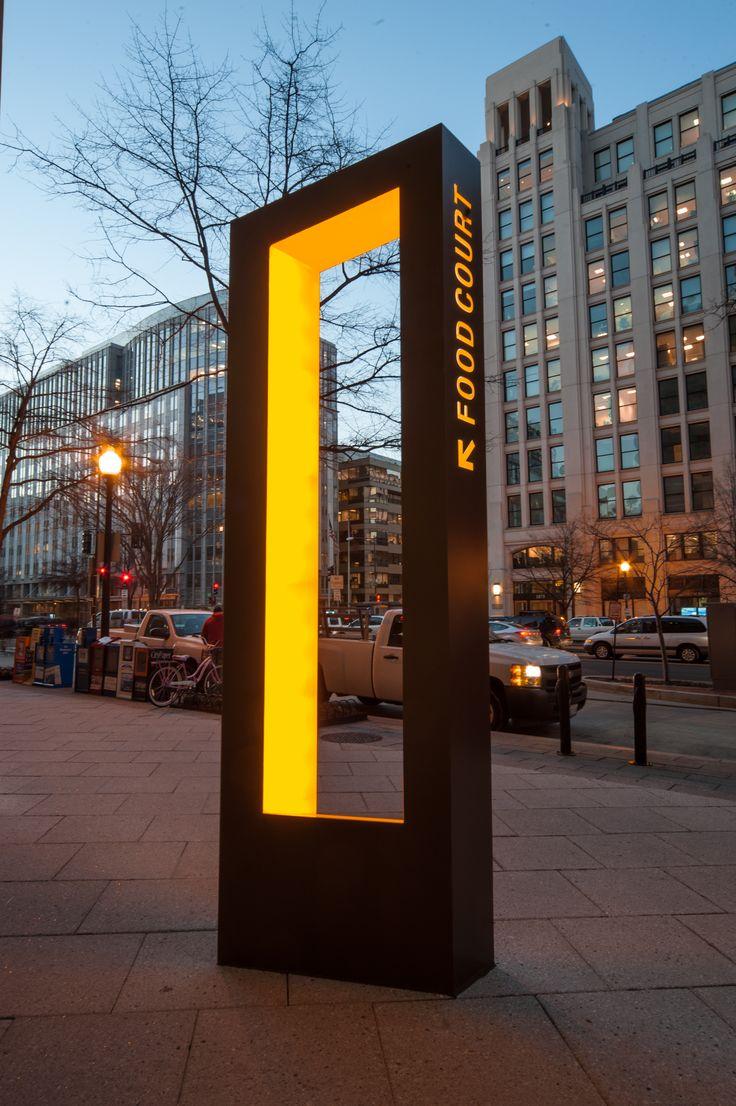 *** Idée Signalisation ***  Illuminated wayfinding sign in Washington DC RePin if you've been there, Follow and be part of TheCrazyCities.com  #crazyWashington.com #Washington  via @Pinterest