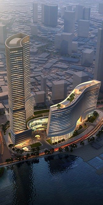 Xiamen Eton Center North Tower, China, by NBBJ Architects #rascacielos #edificios #skyscrapers #buildings