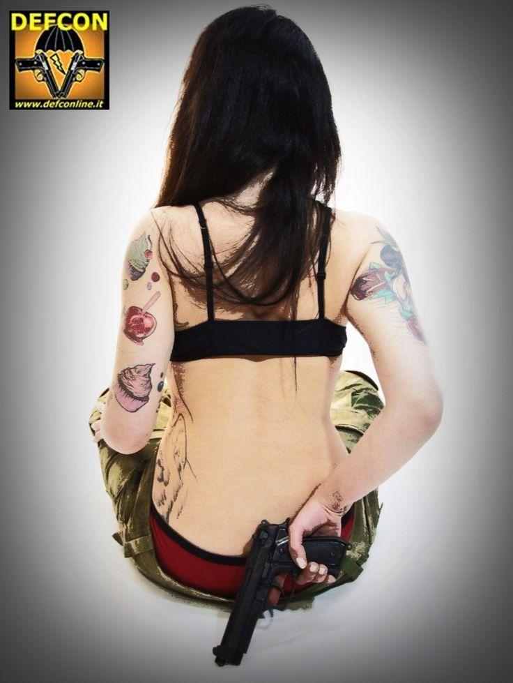 black guns & red undies..