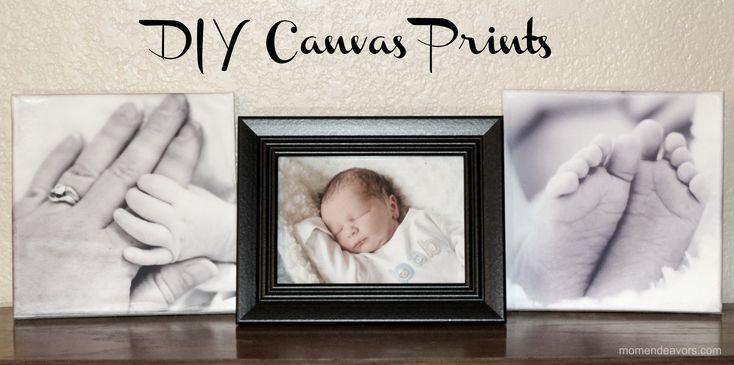 DIY Canvas Prints via momendeavors.com: Canvas Ideas, Gift Ideas, Art, Diy Canvas, Picture Projects, Craft Ideas, Picture Pose, Picture Ideas