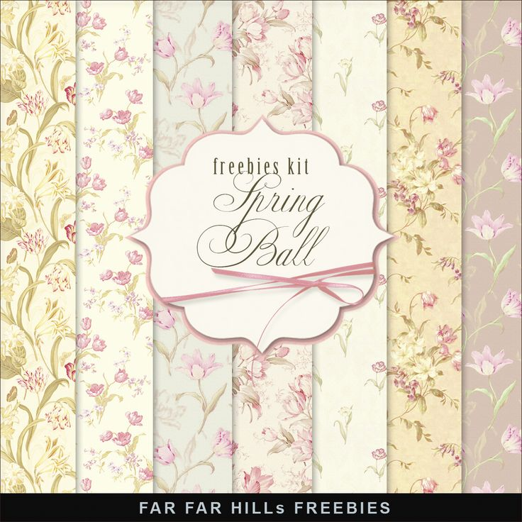 New Freebies Kit of Papers - Spring Ball:Far Far Hill - Free database of digital illustrations and papers