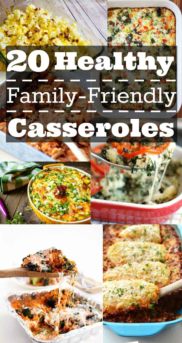 20 Healthy Family Friendly Casseroles | Healthy Casserole Recipes | Healthy Dinner Ideas | Healthy Recipes | Dinner Recipes for the Whole Family || Happily Hughes