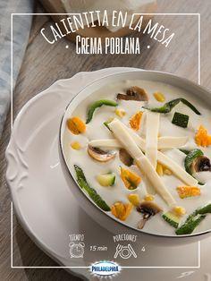 La hora de la comida de acerca, consiente a tus peques con esta deliciosa Crema poblana.