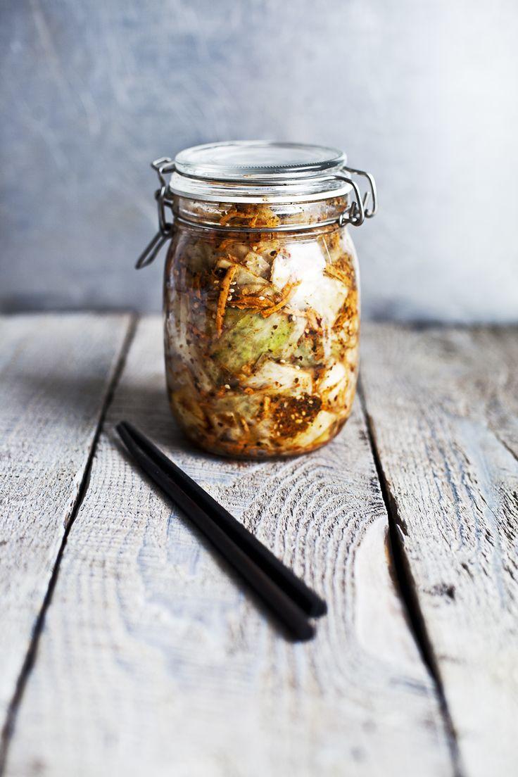 kimchi maison: patates douces, algues et miso