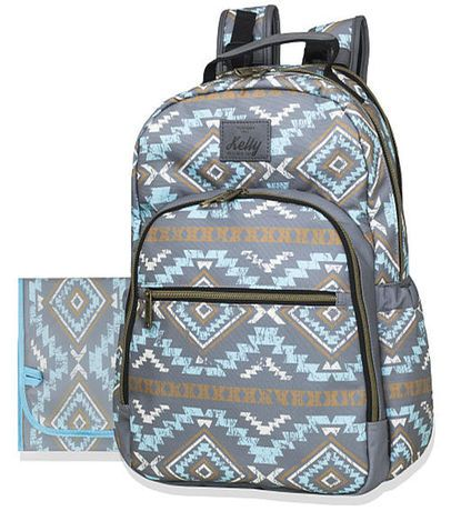 Kelty Teardrop Backpack Diaper Bag - Turq/Grey Aztec