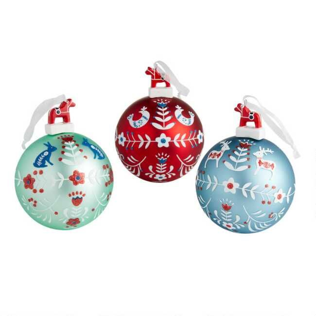 Traditional Scandinavian Style Comes To Life With Our Large Lustrous Ball Orna Scandinavian Christmas Ornaments Unique Christmas Ornaments Christmas Ornaments