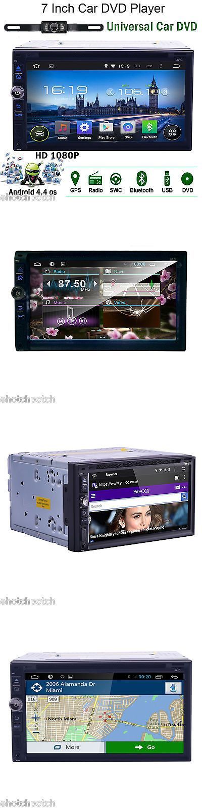 Vehicle Electronics And GPS: 7 Inch Double 2Din Android Stereo Car Cd Dvd Player Gps Navi Touch Radio +Cam BUY IT NOW ONLY: $158.99