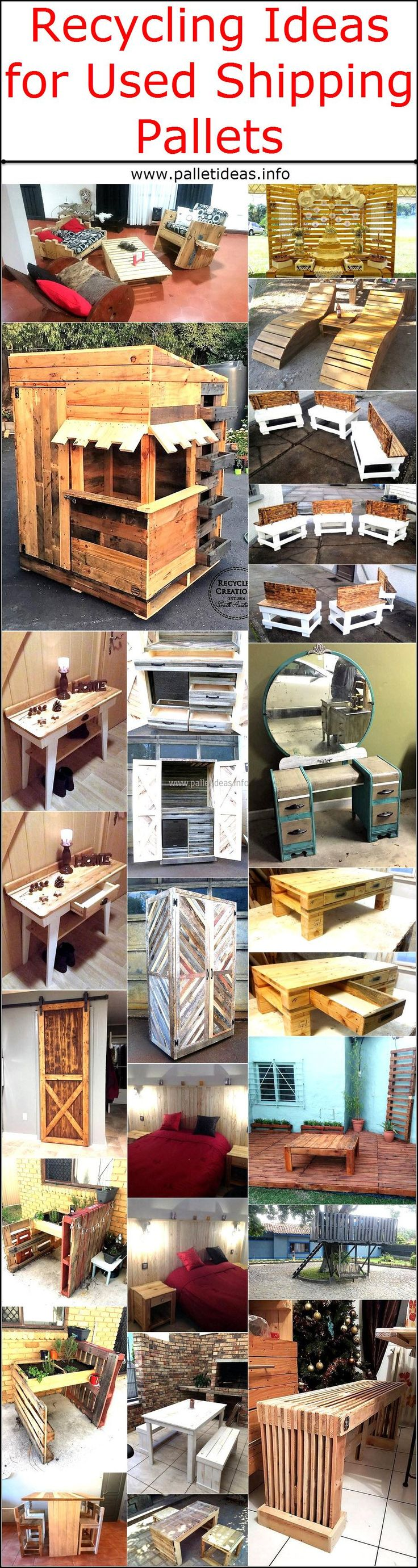 There are many ideas when it comes to utilizing the shipping pallets that are already available in your backyard, it is not a wise decision to throw away the wood pallets because they can be used in creating the inspiring items that are used on a daily basis. If you have a pet at home, you can use the pallets to make a safe home for him/her and if you want furniture for your new home; you can utilize the pallets for furniture creation purpose which will save your money.