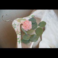 Именная вешалка для платья невесты