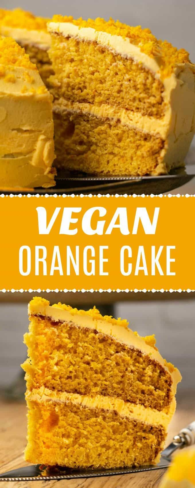 The Best Vegan Orange Cake With Heaps Of Orange Flavor And A Gorgeous Color Light And Fluffy An Orange Cake Recipe Vegan Orange Cake Recipe Vegan Cake Recipes