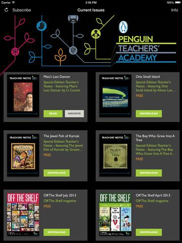 67 best secondary english images on pinterest languages english the penguin teachers academy newsstand app provides rich and engaging resources for teachers librarians fandeluxe Choice Image