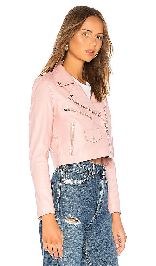 67a0a93970 Understated Leather x REVOLVE Mercy Cropped Jacket in Pink available  exclusively at Revolve