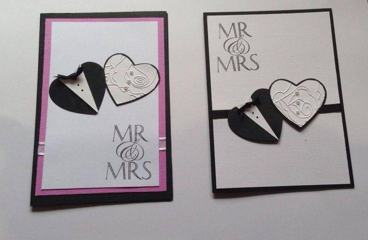 Mr & Mrs card, customised card #handmade