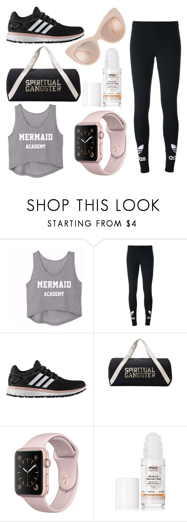 """""""Let's go to gym?"""" by asl26 on Polyvore featuring adidas Originals, adidas, Spiritual Gangster and Mio"""