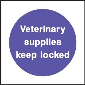 Veterinary supplies Keep locked