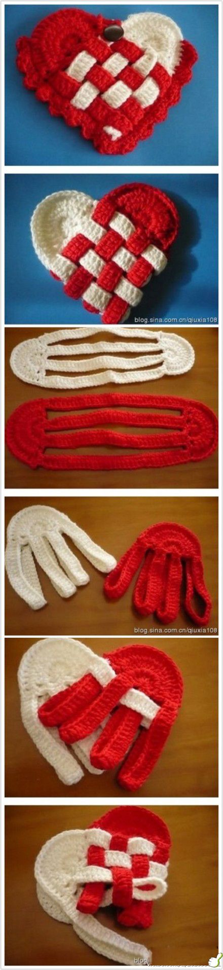 Surprise DIY: crocheted heart basket, a new twist on an old children's craft. ❥Teresa Restegui http://www.pinterest.com/teretegui/❥