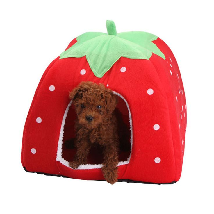 >> Click to Buy << Pet Cat House Foldable Soft Winter Leopard Dog Bed Strawberry Cave Dog House Cute Kennel Nest Dog Fleece Cat Bed S/M/L/XL #Affiliate