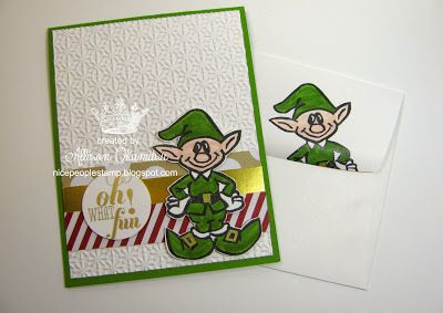 Christmas Elf carved by Allison Okamitsu with the Undefined Carving Kit.: Christmas Cards, Undefined Stampin, Stampinup Com, Amazing Cards, Cards Christmas, Stampin Up, Stamp Kit Stampin, Undefined Stamps, Stamp Carving