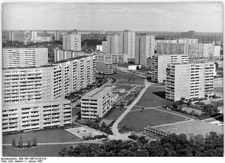 Neubaugebiet in Marzahn 1987