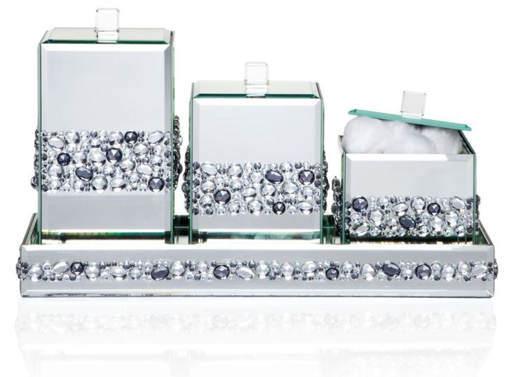 Ricci Canisters From Z Gallerie  Perfect For Makeup Brushes And Then You  Can Use The Tray For Perfumes!