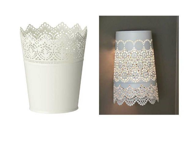Plant Pot Light Sconce   Light up any room with this awesome repurposing idea. #DiyReady diyready.com