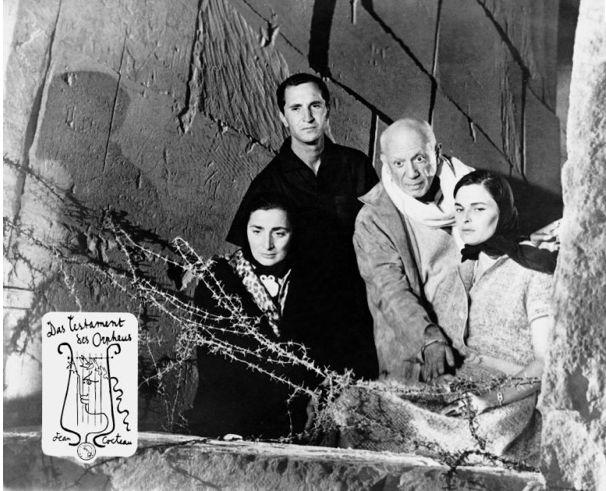 Pablo Picasso, Luis Miguel Dominguin, Lucia Bose Jacqueline Roque, 1960