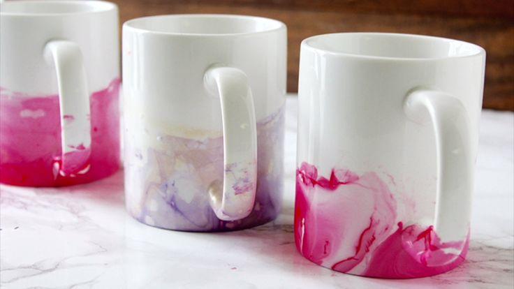 DIY Nail Polish Mugs